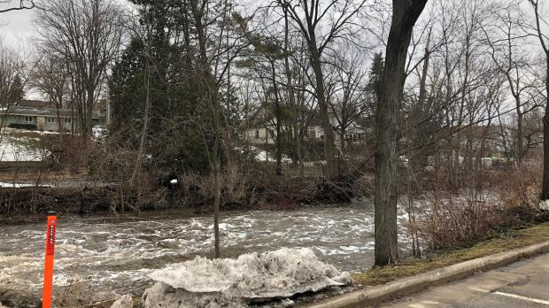 Lodi, flooding, spring creek