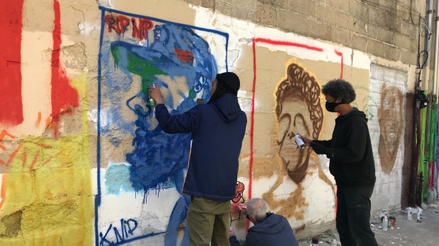 Milwaukee Artists paint mural of Civil Rights leaders