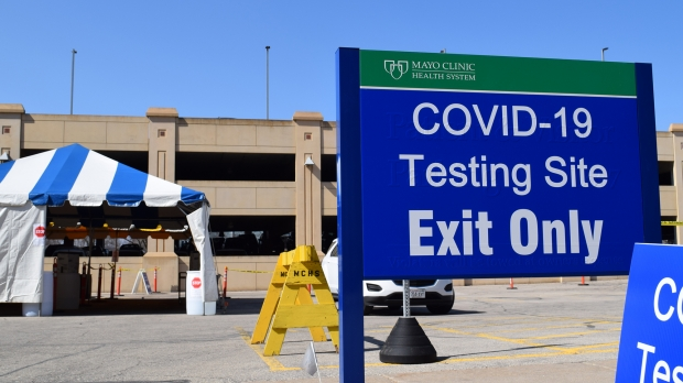 Drive-thru COVID-19 testing is being offered at Mayo Clinic Health System-Franciscan Healthcare in La Crosse