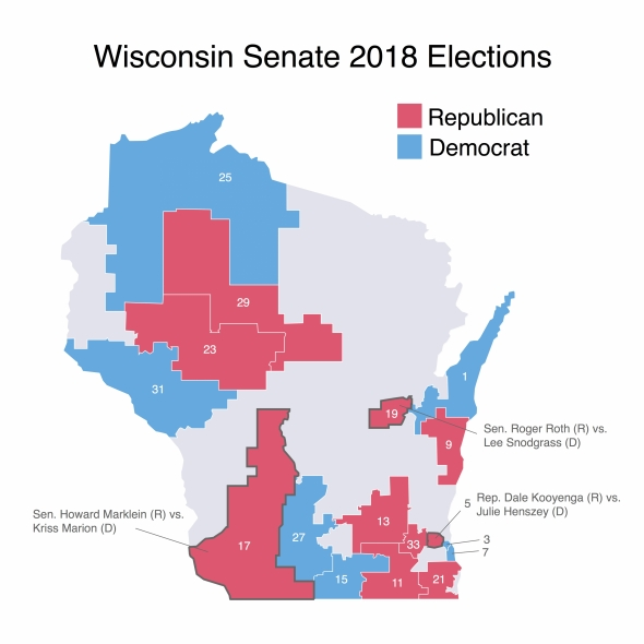 Marion Wisconsin Map.Fight For State Senate Shines Spotlight On Competitive Seats