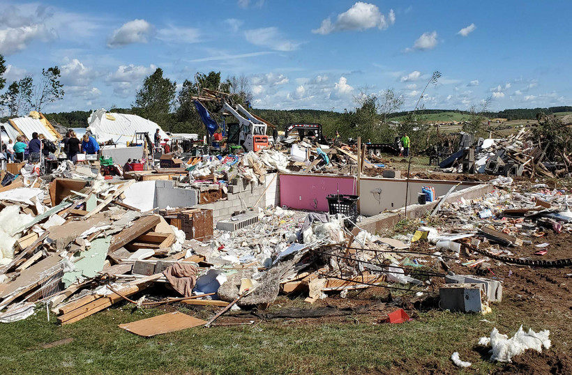 town of Wheaton tornado damage