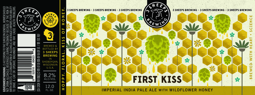 3 Sheeps Brewing Company's First Kiss