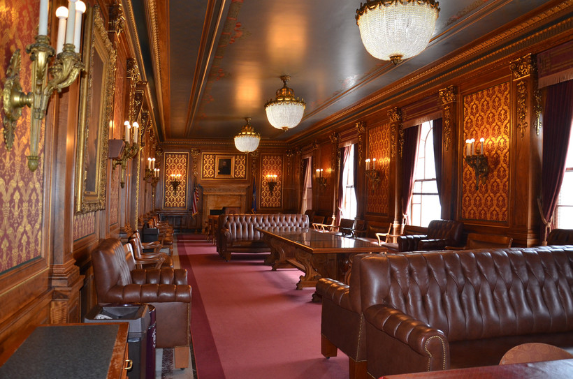 Parlor adjacent to the Assembly Chamber in the Wisconsin State Capitol.