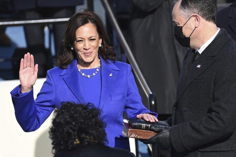 Kamala Harris is sworn in as vice president