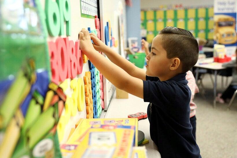 Ms. Mathis' kindergarten classroom