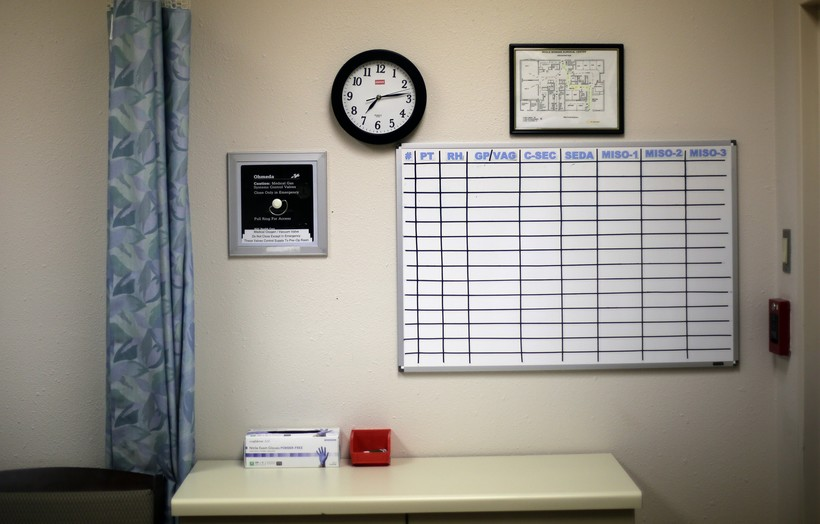 A counseling room at Whole Woman's Health medical center