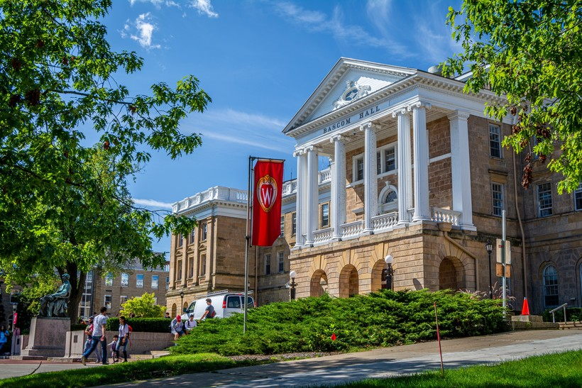 Bascom Hall, the main administrative building on the University of Wisconsin-Madison campus.