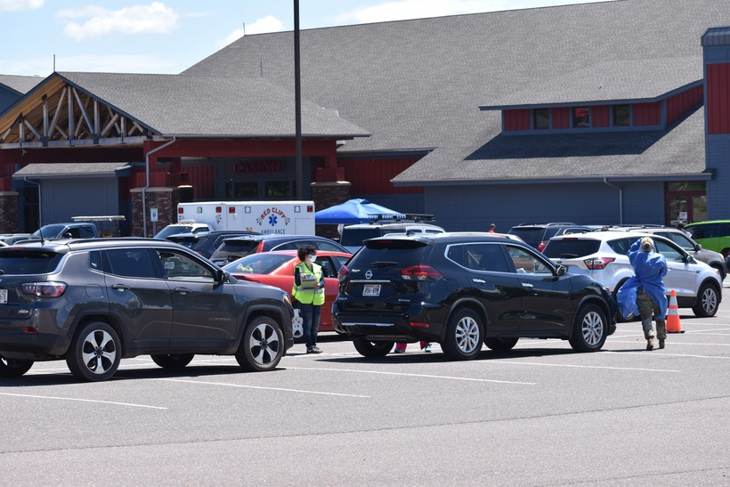 Cars Line Up At Red Cliff Testing Event