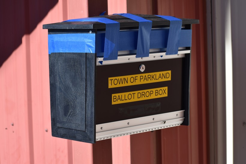 Town of Parkland ballot drop box