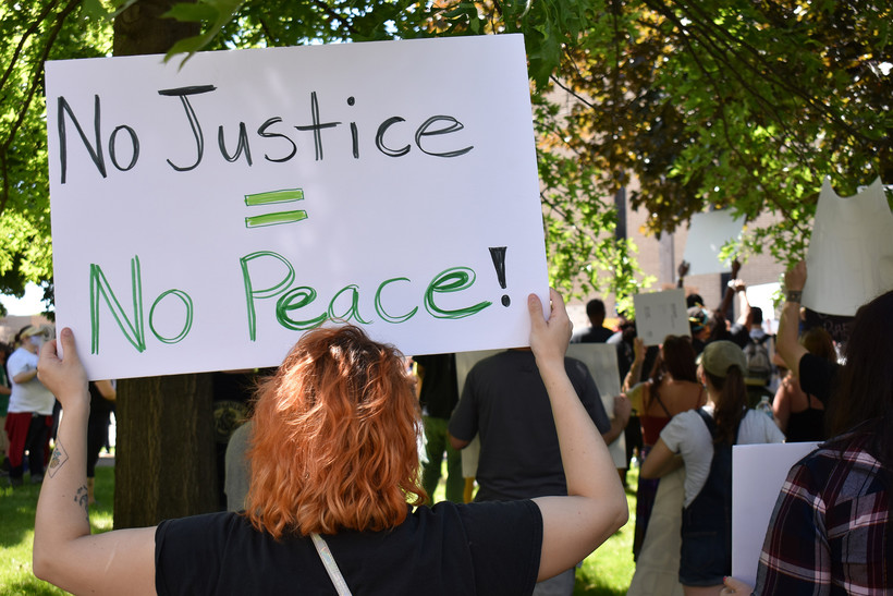 Protesters gathered in Wausauon Saturday