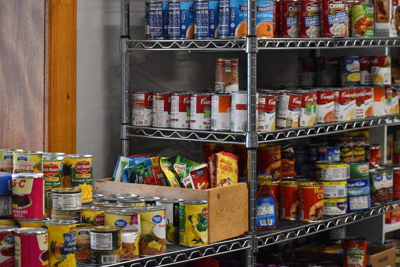 Canned foods at the Bayfield Food Pantry