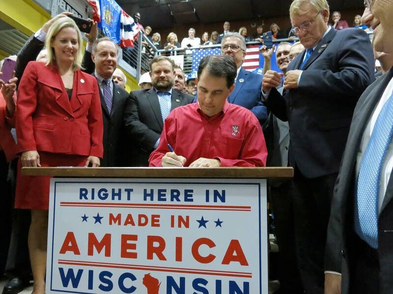 Gov. Scott Walker signing Foxconn bill