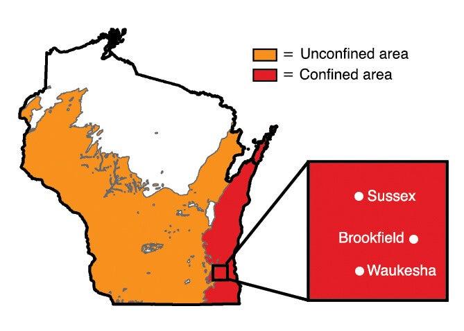 groundwater map radium