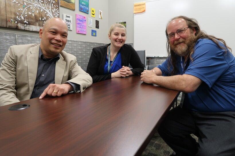 Dr. Mark Lim, Britni Bolduc and Robert Fredericks