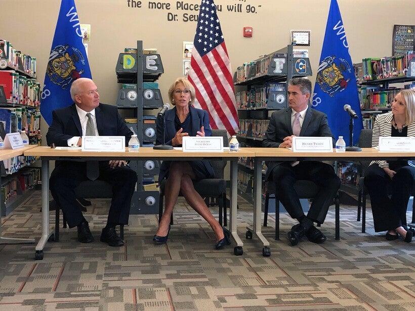 U.S. Secretary of Education Betsy DeVos at her back-to-school tour