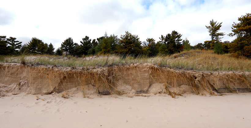 sand dunes at Wisconsin's Kohler-Andrae State Park
