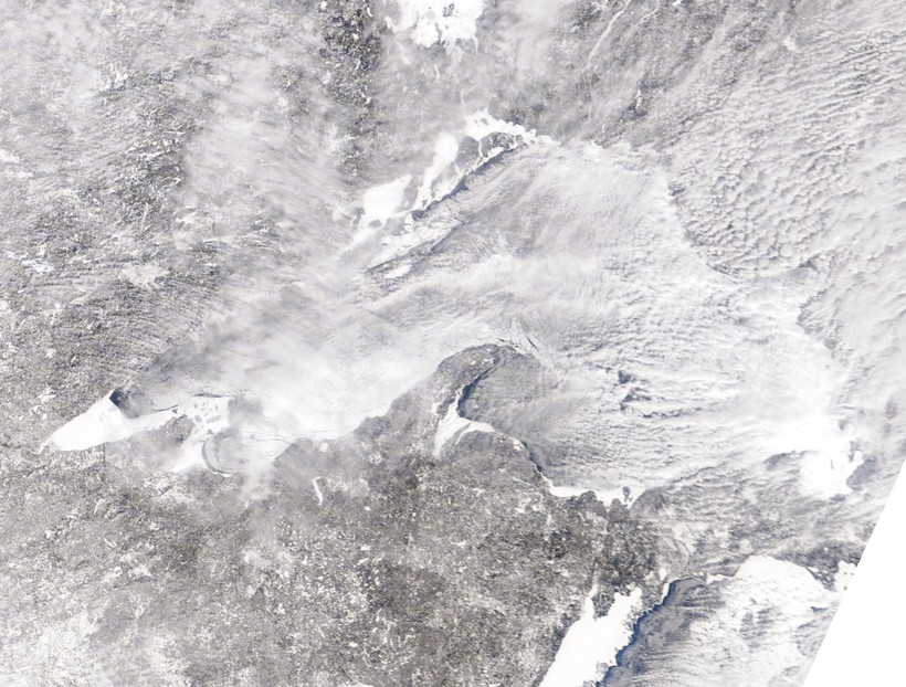 Lake Superior ice cover
