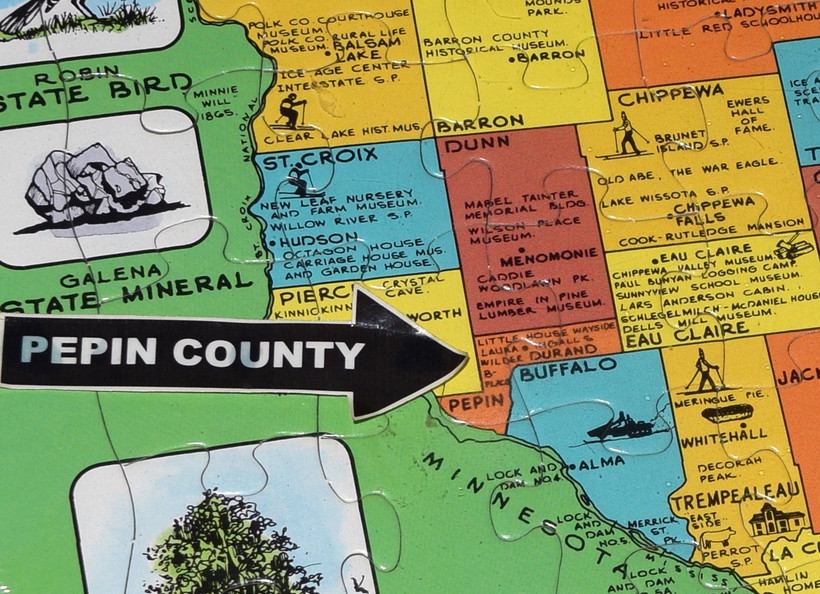 A pzzle map of Wisconsin counties