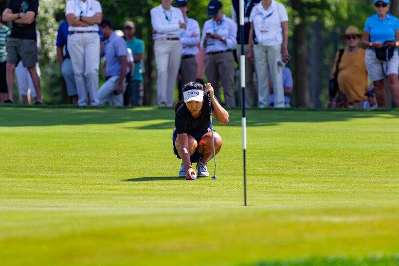 Golfer Lei Ye at the 2019 USGA Girls Junior Championships at SentryWorld in Stevens Point