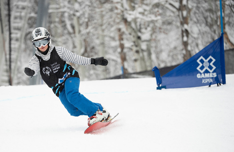 Wisconsin snowboarder Daina Shilts shows off her skills at the X Games