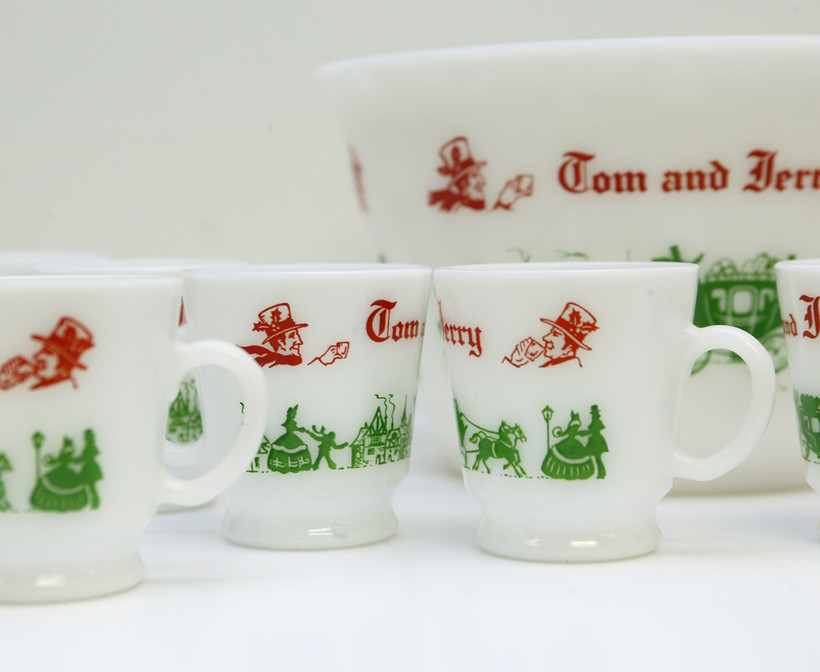 Tom and Jerry milkglass set