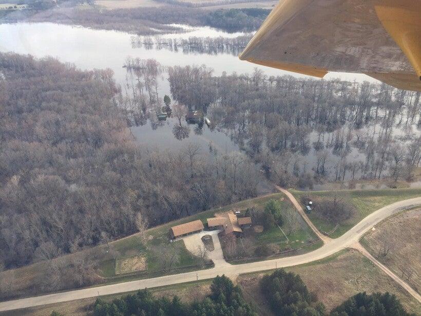 weakened levee on the Wisconsin River