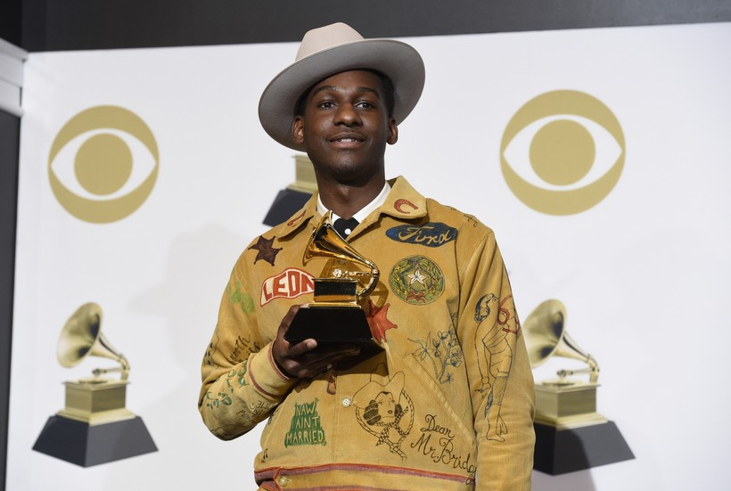 Leon Bridges with Grammy