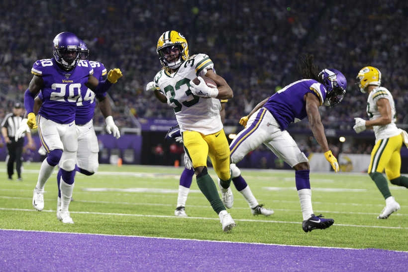 Green Bay Packers running back Aaron Jones
