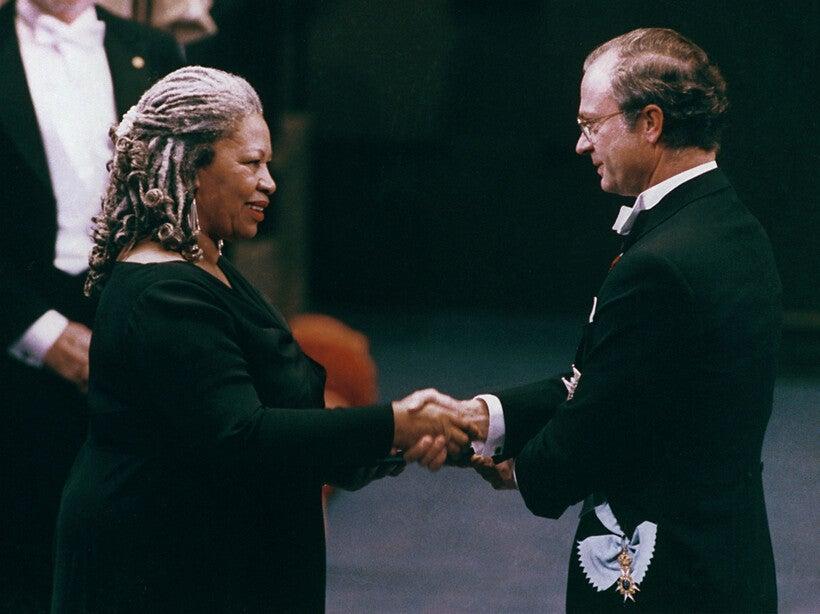 Toni Morrison receives the Nobel Prize