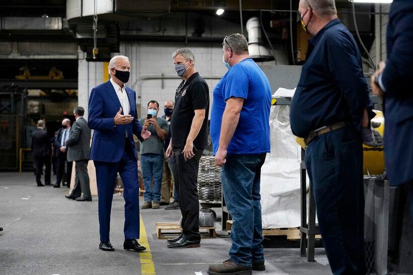 Joe Biden tours the Wisconsin Aluminum Foundry in Manitowoc