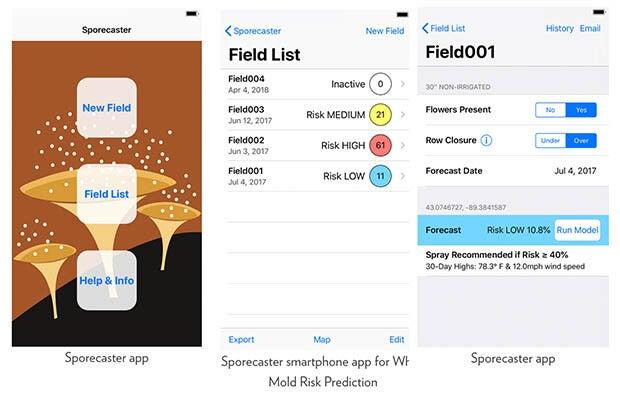 Sporecaster app