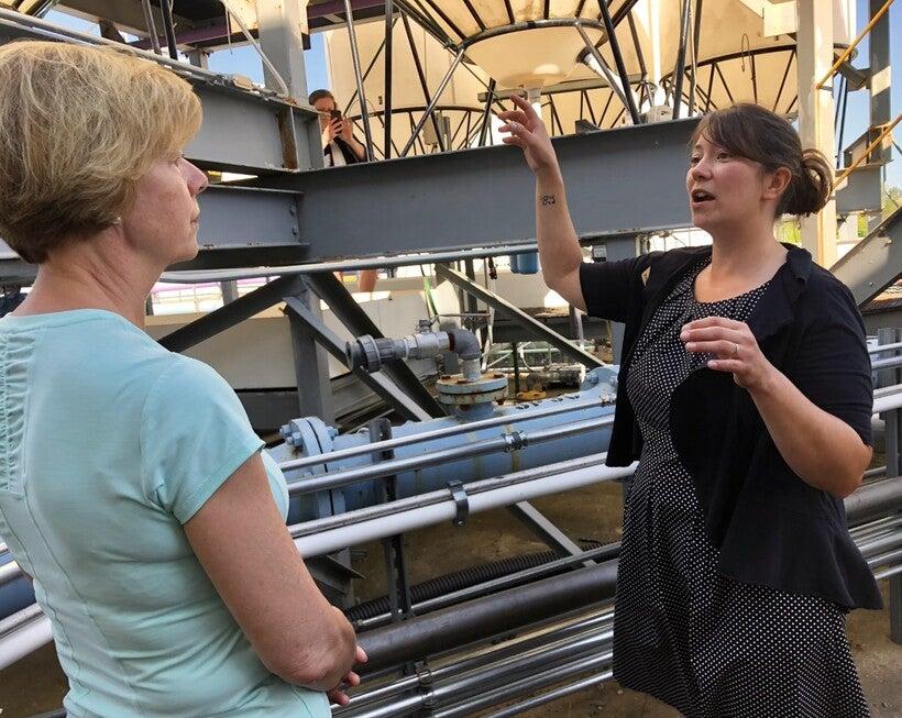 Kelsey Prihoda explains ballast water treatment testing