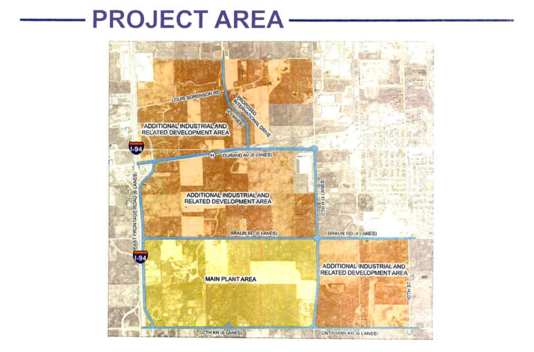 Map of Foxconn plans