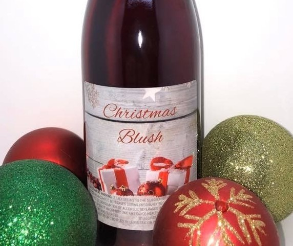 Christmas Blush wine from Lewis Station Winery in Lake Mills