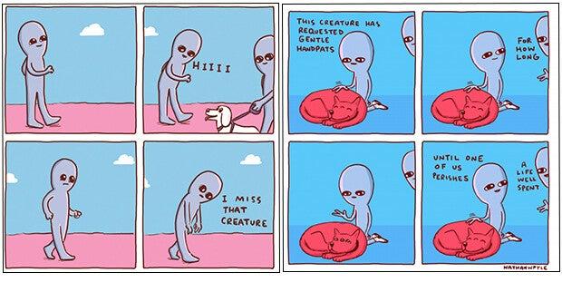Comic strip by Nathan Pyle