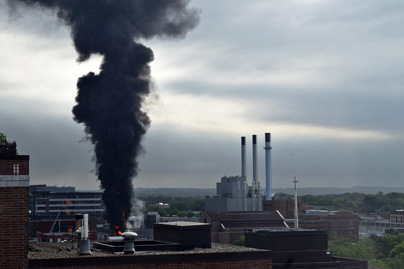 An explosion and fire at Madison Gas and Electric