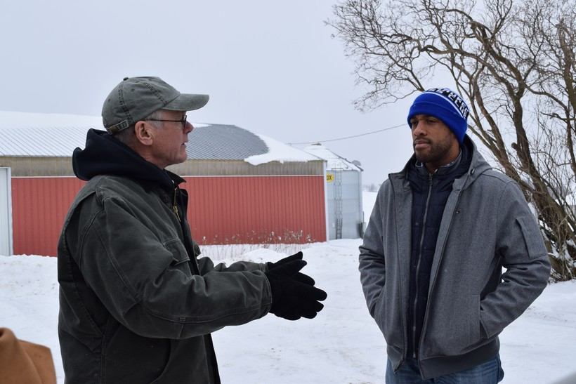 Vince Hundt talks with Lt. Gov. Mandela Barnes