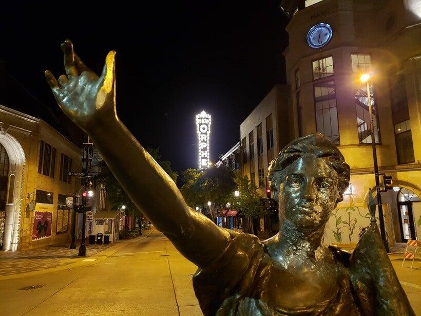 Forward statue