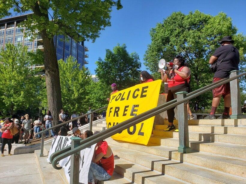 Madison, protest, school