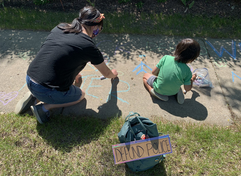 Black Educators Caucus MKE organized a sidewalk chalk event in Milwaukee