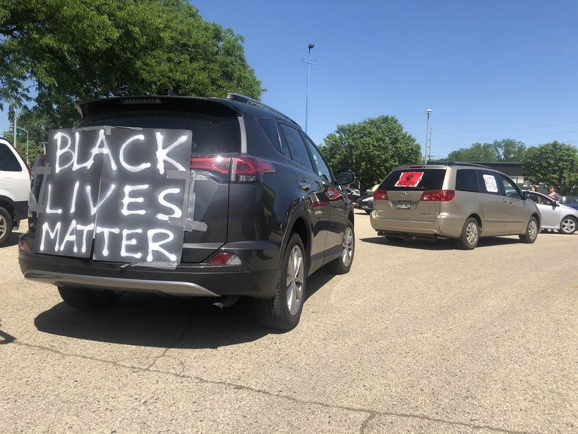 Black Lives Matter protesters participated in another car caravan