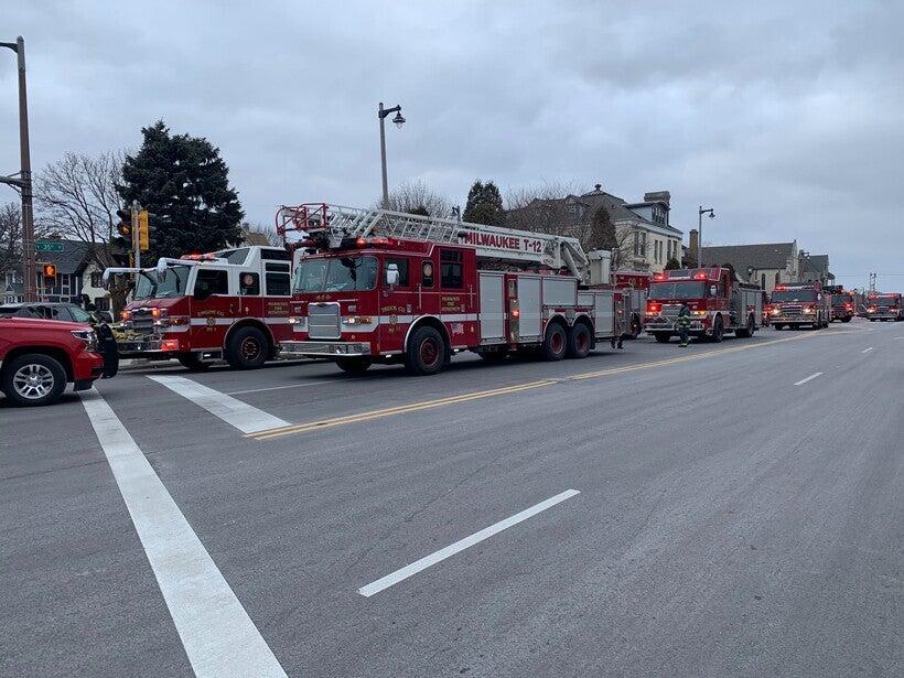 Milwaukee Fire Department trucks