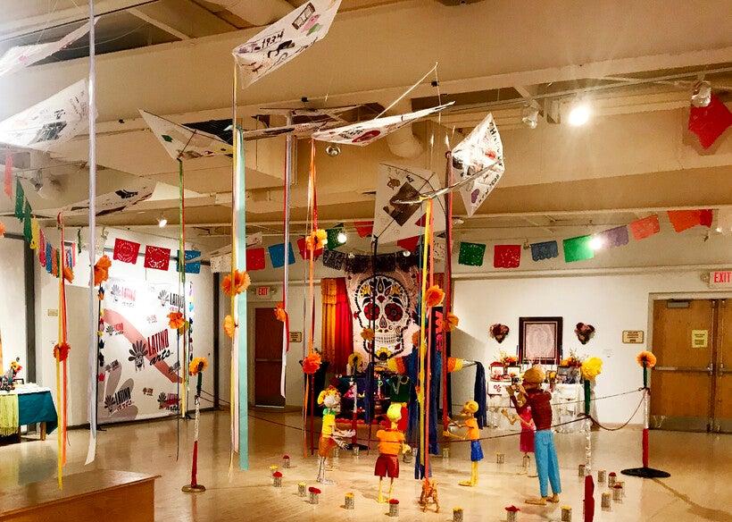 Dia de los Muertos ofrendas at Latino Arts Inc