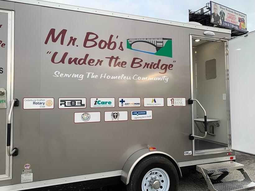"Mr. Bob's ""Under the Bridge"" mobile shower"