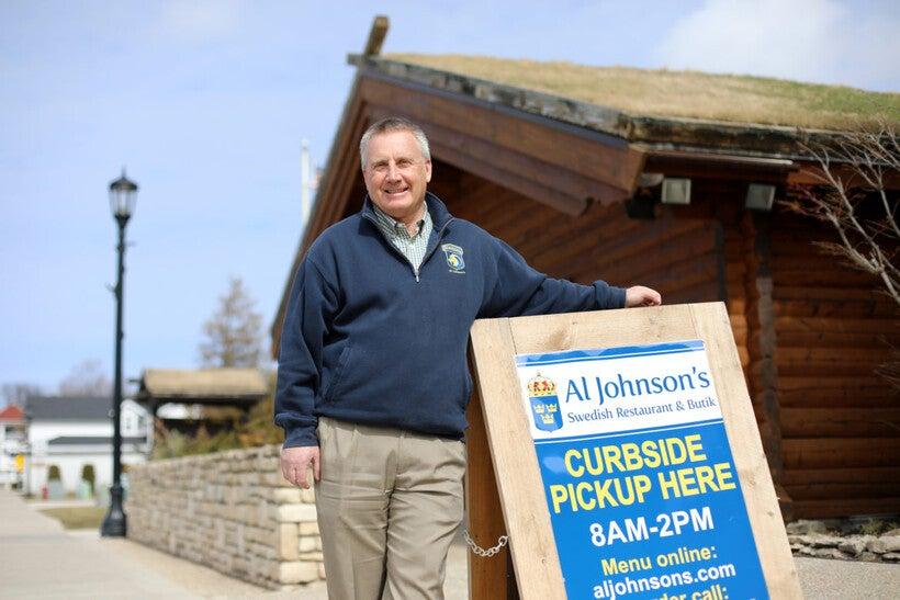 Owner Lars Johnson of Al Johnson's Swedish Restaurant