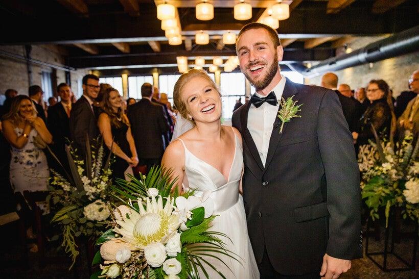 flowers in a wedding by Belle Fiori florist