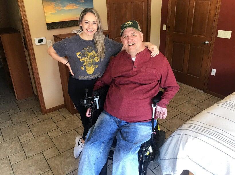 Matt Ford and caregiver Grace Brunette