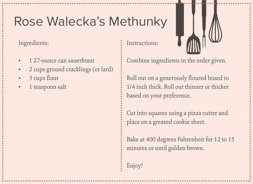 methunky recipe card