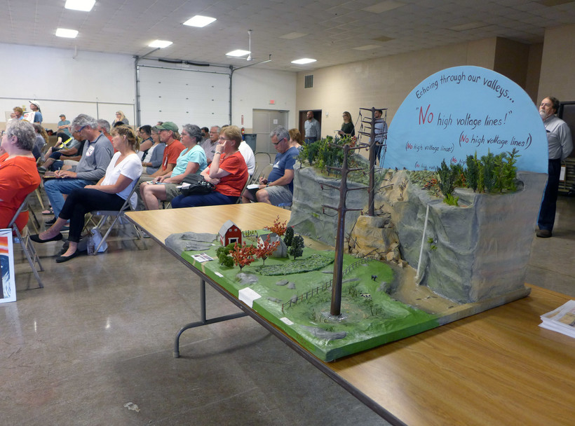 A diorama made by Driftless Defenders opposing the Cardinal-Hickory Creek line