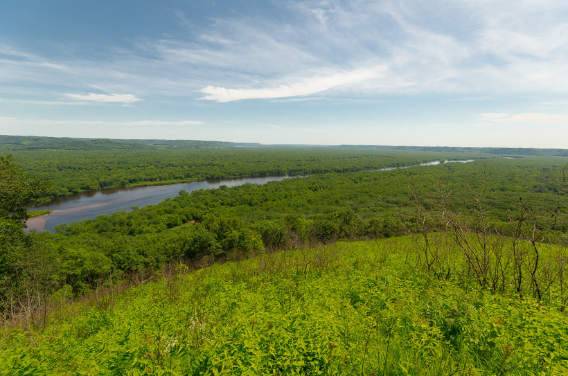 Overlook of the Chippewa River at Five-Mile Bluff Prairie
